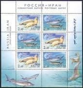 Russia 2003 Marine  /  Nature  /  Fish  /  Seals  /  Wildlife  /  Conservation 6v sht (n34239)