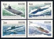 Russia 2006 Submarines  /  Navy  /  Nautical  /  Boats 4v (n31222)