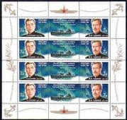Russia 2007 Submarines/ Submariners/ Navy/ Nautical/ Sailors/ Military/ Transport 8v sht (n28657)