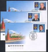 Russia 2011 People  /  Order of St Andrew  /  Medals 3 x FDC (n32853)