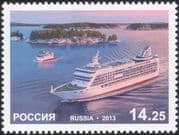 Russia 2013 Passenger Ferry/ Ships/ Boats/ Nautical/ Commerce/ Ferries/ Transport 1v (n44802)