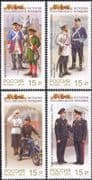 Russia 2013 Police Force/ Law/ Order/ Uniforms/ Tram/ Motorcycle/ Transport 4v set (n45270)