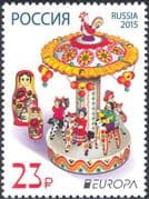 Russia 2015 Europa/ Toys/ Toy Dolls/ Horses/ Merry-go-round/ Cockerel 1v (n43995)