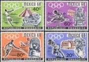 Rwanda 1968  Olympics/ Sports/ Olympic Games/ Athletics/ Running  4v set  (n22230d)