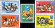 Rwanda 1972 National Guard/ Helicopter/ Trucks/ Transport/ Medical/ Health/ Welfare 5v set (n22222s)