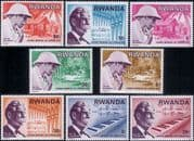 Rwanda 1976 Albert Schweitzer/ Medical/ Health/ Missionary/ Leprosy/ Music/ Organ  8v set (n22222m)