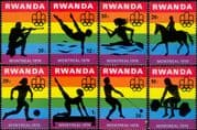 Rwanda 1976 Olympic Games/ Olympics/ Horse/ Football/ Soccer/ Shooting/ Diving/ Sports 8v set n22434