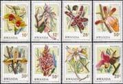 Rwanda 1976 Orchids/ Flowers/ Plants/ Nature/ Horticulture 8v set (n22250)