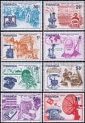 Rwanda 1976 Telephone/ Inventions/ Science/ Technology/ Communication 8v set (n22222h)