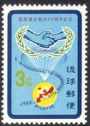 Ryukyus 1965 UN/ IYC/ International Year of Co-operation/ Maps/ Hands/ United Nations 1v (n26930)