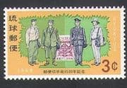 Ryukyus 1968 Postmen  /  Stamp-on-Stamp  /  Cycad  /  Post  /  Mail 1v (n34152)