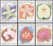 Sahara 1996 Flowers/ Orchids/ Plants/ Nature 6v set (b7372)