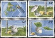 Samoa 1980 Afiamalu Satellite Station/ Radio Dish/ Communications/ Space 4v set (s5363)