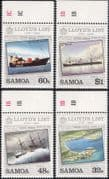 Samoa 1984 Lloyd's List/ Ships/ Boats/ Transport/ Sailing/ Steam/ Lloyds 4v set (s5358)