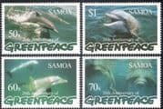Samoa 1997 Dolphins/ Greenpeace/ Marine/ Nature/ Wildlife/ Conservation/ Enviroment 4v set (b2914)