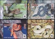 Samoa 2015 WWF/ Pacific Tree Boa/ Snakes/ Reptiles/ Animals/ Nature/ Wildlife 4v set (b6548q)