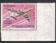 San Marino 1963 Planes  /  Aircraft  /  Transport  /  Aviation  /  Airmail 1v (n34637)