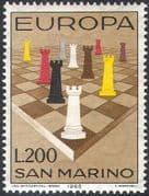 San Marino 1965 Europa/ Chess/ Board Games/ Sports/ Pieces/ Rooks 1v (n41957)