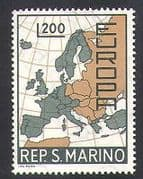 San Marino 1967 Europa  /  Map  /  Animation 1v (n37066)