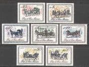 San Marino 1969 Horse  /  Carriages  /  Transport 7v set n23441