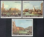 San Marino 1971 Save Venice/ Buildings/ Architecture/ UNESCO/ Canaletto/ Art/ Paintings 3v set (n38552)