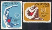 San Marino 1972 Heart  /  Health  /  Welfare  /  Medical  /  Animation 2v set (n38556)