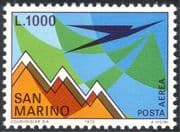 San Marino 1972 Mountains/ Animation/ Airmail/ Planes 1v (n44255)
