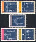San Marino 1973 Aviation/ Transport/ Planes/ Aircraft/ Flight 5v set (n32538)