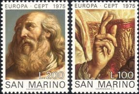 San Marino 1975 Europa/ Guercino/ St Marinus/ Artists/ Art/ Paintings/ Religion   2v set (ex1042)