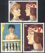 San Marino 1975 IYW/ Women's Year/ Art/ Paintings/ Naked/ Nude/ Artists 3v set (n41982)
