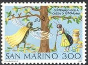 San Marino 1982 Ant/ Cicada/ Insects/ Fables/ Stories/ Books/ Money/ Animation 1v (n34856