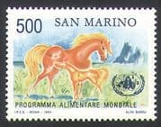San Marino 1983 FAO/ FFH/ Freedom from Hunger/ Horses/ Animals/ Animation 1v (n34639)
