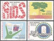San Marino 1988 AIDS/ Medical/ Health/ Welfare/ Trees/ Animation 4v set (n43643)