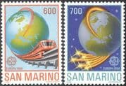 San Marino 1988 Europa/ Transport/ Communications/ Trains/ Railway/ Rail/ Telecommunications/ Telecomms 2v set (n32557)