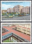 San Marino 1989 World Health Day/ Cailungo Hospital/ Medical/ WHO/ Buildings/ Architecture 2v set (n44928)