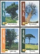 San Marino 1997 Oak/ Walnut/ Pine/ Pear/ Trees/ Plants/ Nature 4v set (n43649)