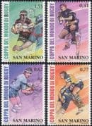 San Marino 2003 Rugby World Cup Championships/ WC/ Sport/ Games/ Animation 4v set (n44762)