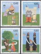 San Marino 2004 Fairy Tales/ Red Riding Hood/ Puss in Boots/ Stories/ Books/ Cats  4v set (n45980)
