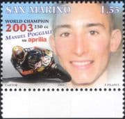San Marino 2004 Manuel Poggiali/ Motorcycle/ Motor Bike/ Bikes/ Grand Prix/ Sport/ Racing/ Transport 1v (n44763)