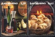 San Marino 2005 Europa/ Gastronomy/ Food/ Bread/ Wine/ Cooking/ Baking 2v set (n40973)
