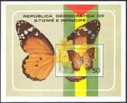 Sao Tome 1979 Butterflies/ Insects/ Nature/ Butterfly/ Conservation 1v m/s (s4340)