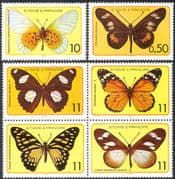 Sao Tome 1979 Butterflies/ Insects/ Nature/ Butterfly/ Conservation 6v set (s4340a)