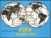 """Sao Tome 1990 Football/ World Cup/ WC/ """"Italia '90""""/ Sport/ Games 1v m/s (n11309)"""
