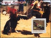 Sao Tome 2003 Cockerels/ Birds/ Chickens/ Nature/ Scouts/ Jamboree m/s (n41407c)