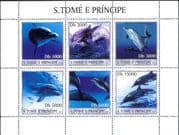Sao Tome 2003   DOLPHINS/ Marine Animals/ Nature/ Wildlife/ Conservation  6v sht (n11864)