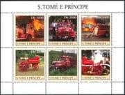 Sao Tome 2003 FIRE ENGINES/ Emergency / Rescue Vehicles/ Motors/ Transport 6v sht n10466