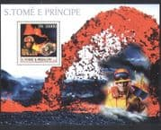 Sao Tome 2003 FIRE FIGHTER  /  Volcano  /  Firemen  /  Rescue  /  Rock  /  Minerals 1v m  /  s (n10467a)