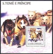 Sao Tome 2003 Husky  /  WorkingDogs  /  Sled Team  /  Animals  /  Nature  /  transport 1v m  /  s n36973