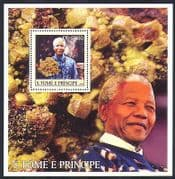 Sao Tome 2003 Nelson Mandela  /  Politics  /  Politicians  /  People  /  Peace 1v m  /  s (n36968)