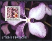 Sao Tome 2003 Orchids  /  Flowers  /  Marilyn Monroe  /  People  /  Personalities 1v m  /  s n36977